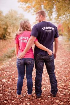 Adorable Firefighter Engagement Session - Aisle Perfect