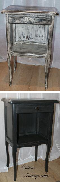 buffet bahut relook bord de mer bois massif patin lin bleu c ladon relooking cm homedeco. Black Bedroom Furniture Sets. Home Design Ideas