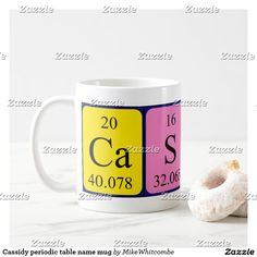 Cassidy periodic table name mug