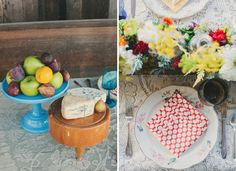 rustic table setting photographed by Plum Jam Photography