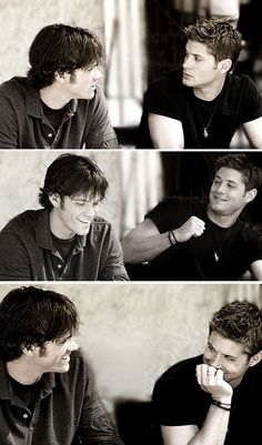 Jared and Jensen behind the scenes <3 Real life brothers:)