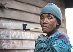 Tribal Chin Woman From Muun Tribe With Tattoo On The Face Smoking, Mindat, Myanmar | Flickr - Photo Sharing!