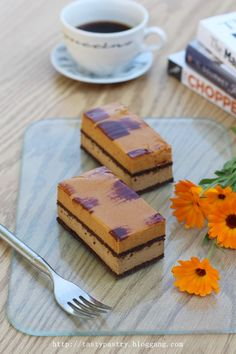 Coffee Caramel Mousse Cakes