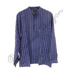 Collarless grandad shirt