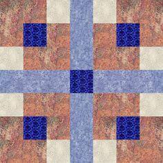 Seven Patch Quilt Block Pattern