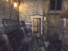 Inside the crypt in the haunted Vicarage
