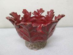shopgoodwill.com: Department Dept 56 Pottery Decorative Planter Red