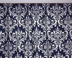 Pair Traditions Damask Curtains Panels  84 by customhomefashions