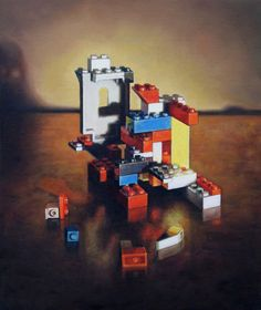 Allan Innman Lego still life drawing/painting Lego Painting, Artist Painting, Advanced Higher Art, Perspective Drawing Lessons, High School Art Projects, Still Life Artists, Classical Realism, Still Life Drawing, A Level Art