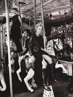 Patrick Demarchelier | Amber Valletta, Harper's Bazaar US, October 1993