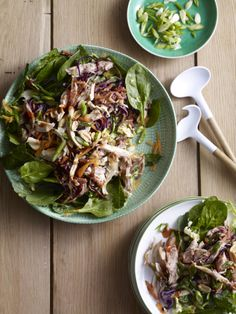 Moo Shu Chicken Salad - uses store bought rotisserie, great for a quick weeknight meal