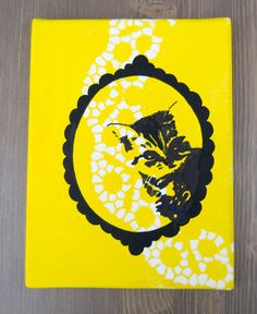 Bam Bam with lace/Acrylic on canvas by Pudeldesign on Etsy, €15.00 I love it!,