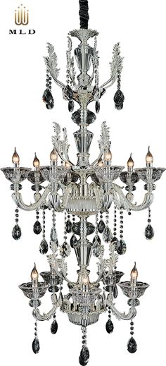 Luxury hanging chandelier in silver colour with magnificiant crystals - unique collection Silver Dream Luxury Lighting, Luxury, Luster, Hanging Chandelier, Lights, Silver Color, Chandelier, Color, Ceiling Lights
