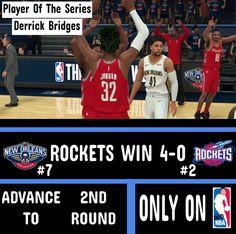 Rookie @dad.derrickbridges shines brightly for the @dadpelicans but isnt enough to beat the @dadrockets_2kfantasynuggs.co  _______________________________________________________ Leave a like & comment down below! #DadNBA  #nba2k18 #basketball #daddy #f4f  #nba #2k #simleague #joinsimleague #ballislife #nbaseason #legends #sports #chicago #texas #florida #atlanta #california #washington #dc #newyork #losangeles #newyorkcity #boston #videogames #youtube