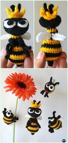 Crochet Amigurumi Queen Bee Free Pattern - Crochet Amigurumi Little World Animal Toys Free Patterns