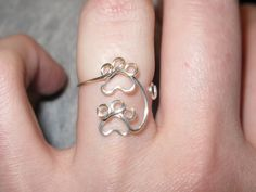 Wire Wrapped Double Paw Prints MADE to ORDER by 1ofAkinds on Etsy