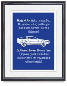 Back to the Future Quote Poster. £9.99, via Etsy.