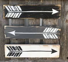 Farmhouse Arrow Signs, Rustic Wall Decor, Primitive Wood Arrow Signs