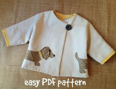 Good Dog  Car Coat PDF Pattern. Girl or Boy door RubyJeansCloset, $7.95