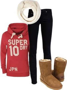 Comfy outfit. by karen-de-nul liked on Polyvore