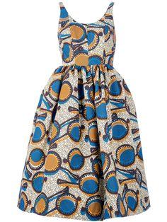 STELLA JEAN flared sleeveless dress