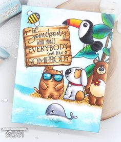 Beach Scene Masked Motivation with Kelly Latevola Art Drawings Sketches Simple, Colorful Drawings, Easy Drawings, Copic Marker Art, Simon Says Stamp Blog, Bullet Journal Themes, Color Pencil Art, Cartoon Art Styles, Copics