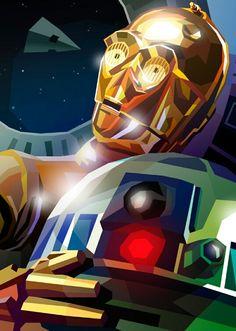 C-3PO & R2-D2 by Liam Brazier