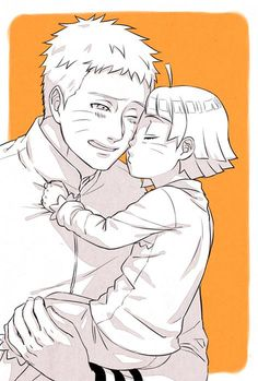 Naruto and Himawari [by https://twitter.com/halsakurajam]