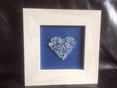 Sea Glass heart in a frame