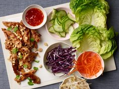 Thai Lettuce Wraps: Use brown rice noodles if you can find them