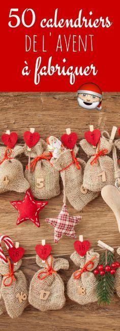En papier, en carton, en tissu : 50 calendriers de l'avent à fabriquer avant Noël !                                                                                                                                                     Plus