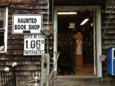 The Book Barn, Niantic CT--part of a bookstore compound-via BOOKRIOT