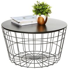 Hudson Cage Coffee Table Black Target Australia ($51) ❤ liked on Polyvore featuring home, furniture, tables, accent tables, black table, top table, black accent table, onyx furniture and black furniture