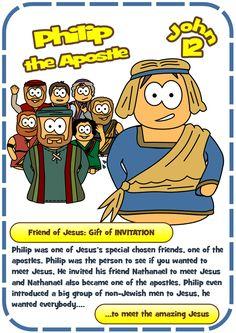 Hero card for the Apostle Philip - John 12. #Jesuswithoutlanguage