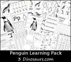 FREE Penguin Learning Pack - over 70 pages of actvities for ages 2 to 9 - 3Dinosaurs.com