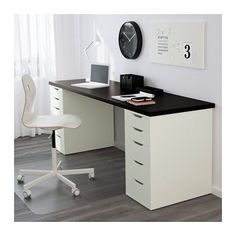 ALEX Drawer unit - white - IKEA Like the two drawers on either side, but instead of a desk top two pieces of glass to make a vanity with storage inbetween the glass as well