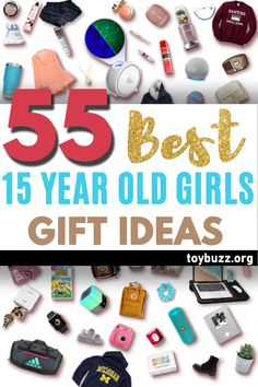 """See the best 15 year old girl gifts for teen girls. Discover COOL and unique gift ideas for Birthdays, Christmas, and other occasions for your 15 year old teen daughter. These EPIC Birthday and Christmas Gifts will have her smiling from ear to ear and ecstatically saying, """"OMG, how did you know what I want?"""" Shhh ... your secret is safe with us! Christmas Gifts For Teen Girls, Best Gifts For Girls, Gifts For Teens, Best Birthday Gifts, Birthday Gifts For Women, Old And Teen, Santa Claus Is Coming To Town, Milestone Birthdays, 15 Years"""