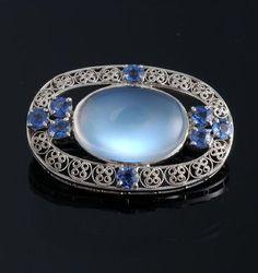 Moonstone & Montana (Yogo) Sapphires by Tiffany & Co.