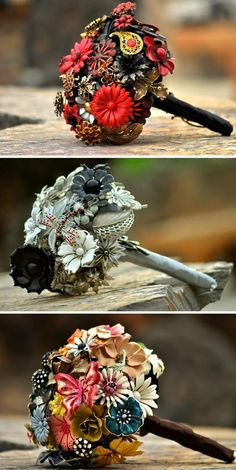 I love the idea of broche bouquets its unique to the brides taste and the wedding theme... Beautiful way to add a personal touch to your wedding
