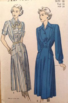 A personal favorite from my Etsy shop https://www.etsy.com/listing/451655146/vintage-advance-sewing-pattern-4883