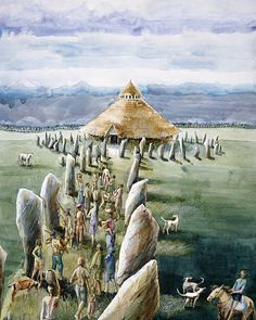 The Neolithic Sanctuary at Avebury in the Millennium BCE by Judith Dobie European History, Ancient History, Fine Art Prints, Framed Prints, English Heritage, World Heritage Sites, Stone Age, Poster Size Prints, Pictures