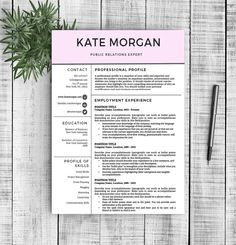Resume Template by @Graphicsauthor