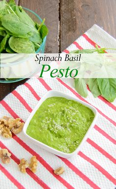 Healthy Spinach Basil Pesto