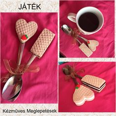 Naopolitan sweets cookies biscuits spoon mug coffee polymer clay hand made homemade