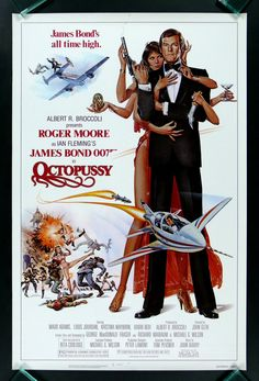 Roger Moore as James Bond in the aptly named Octopussy. #Bond50