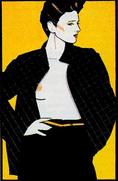 Patrick Nagel, fashion illustrator of the 80s.