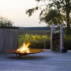 Fire in the Garden on Pinterest   Fire Pits, Fire Table and Fireplaces