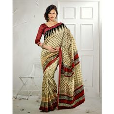 SimpleSarees Party Wear Bhagalpuri Silk Printed Saree - Silk Sarees by Simple Sarees