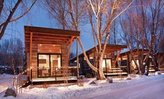 Fireside Resort – Jackson Hole, Wyoming  Been to Jackson many times, would love to do this sometime though.
