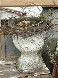 urn with vines